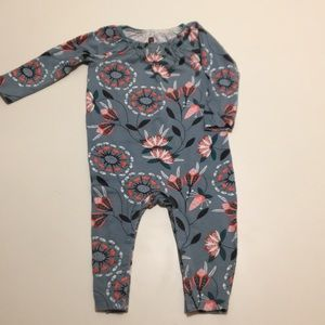 Adorable Flowered Tea Collection Onesie.